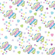 Vector de stock : Kids greeting background