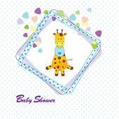 Cartão do chuveiro de bebê — Vetorial Stock