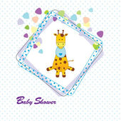 婴儿洗澡卡 — 图库矢量图片