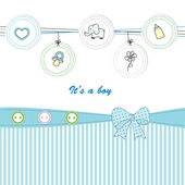 Cute kids card — Vettoriale Stock