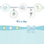 かわいい子供たちのカード — ストックベクタ