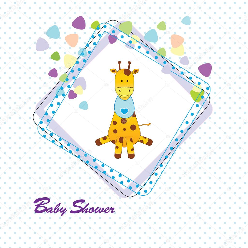 Baby Shower Stock Images ~ Baby shower card — stock vector justaa