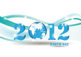 Background on earth day in 2012 year — Stock Vector