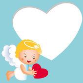 Piccolo carino angelo — Vettoriale Stock