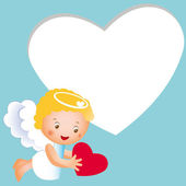Small cute angel — Vector de stock
