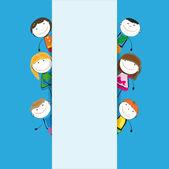 Banner kids — Stock Vector