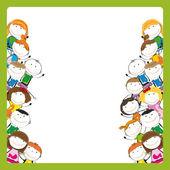 Barn ram — Stock vektor