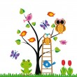 Funny kids background — 图库矢量图片 #9901413