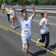 BELGRADE, SERBIA - APRIL 22: A group of marathon competitors during the 25th Belgrade Marathon on April 22, 2012 — Foto Stock