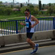Man runs in 25th Belgrade Marathon on April 22, 2012 in Belgrade, Serbia — Stock fotografie