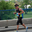 Man runs in 25th Belgrade Marathon on April 22, 2012 in Belgrade, Serbia — Stockfoto