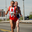 BELGRADE, SERBIA - APRIL 22: Marathon competitors during the 25th Belgrade Marathon on April 22, 2012 — Stockfoto