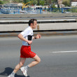 Man runs in 25th Belgrade Marathon on April 22, 2012 in Belgrade, Serbia — Стоковая фотография
