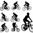 Bicyclists silhouettes — Stockvectorbeeld