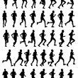 Royalty-Free Stock Vector Image: Marathon runners