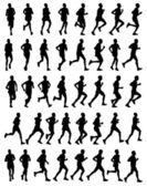 Marathon runners — Vector de stock
