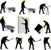 Trabalhadores da construção civil — Vetorial Stock