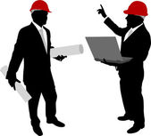 Businessmen with hard hat 2 — Stock Vector