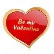 Be my valentine — Stockvectorbeeld