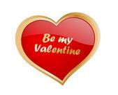 Be my valentine — Stock Vector