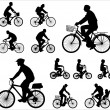 Bicyclists silhouettes — Stock Vector #8737151