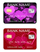 Credit cards, Valentine's day theme — Cтоковый вектор