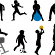 Vector de stock : Children sport