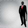 Businessman on the abstract background — Stok Vektör