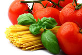 Delicious tomatoes with pasta — Stock Photo