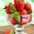 Delicious strawberry dessert in elegant goblet — Zdjęcie stockowe