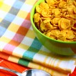 Delicious breakfast corn flakes — Foto de Stock