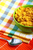 Delicious breakfast corn flakes — Stock Photo