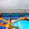 Open deck on a beautiful cruiseship — Stock Photo #8968560
