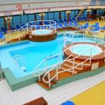 Open deck on a beautiful cruiseship — Stock Photo