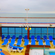Stock Photo: Open deck on beautiful cruiseship