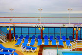 Open deck on a beautiful cruiseship — Stock Photo