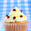 Stock Photo: Delicious cup cake with stars