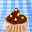 Delicious cup cake with stars — Stock Photo