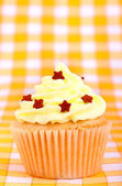 Delicious cup cake with stars — Стоковое фото