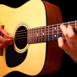 Playing classic spanish guitar — Stock Photo #9771902