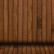 Stock Photo: Dark wooden wall interior background