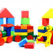 Stock Photo: Colorful wooden toy train