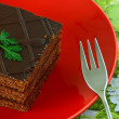 Delicious chocolate cake — Stock Photo #9985584