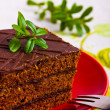 Stock Photo: Delicious chocolate cake