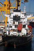 Dryship in port — Stockfoto
