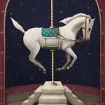 witte circus paard — Stockfoto