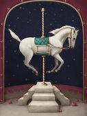 Caballo de circo blanco. — Foto de Stock