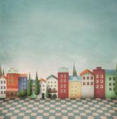 Kolorowe zabawki miasto. — Zdjęcie stockowe