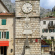 Kotor clock tower — Stock Photo