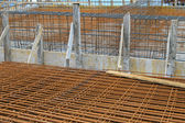 Rebar construction — Stock Photo